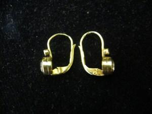 d2ba00334 Zlaté náušnice se zirkony | Antik v Dlouhé